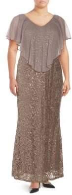Marina Plus Lace Long Dress