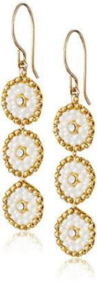 Miguel Ases Swarovski and Triple-Station Small Drop Earrings