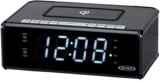 Jensen JENSEN QiCR-200 Dual Alarm Clock Radio with Qi Charging