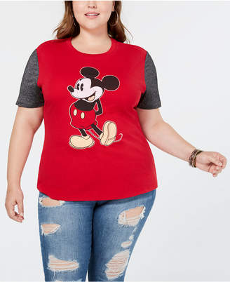 Hybrid Plus Size Mickey Mouse Colorblocked T-Shirt