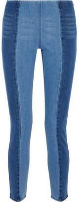 By Malene Birger Two-Tone High-Rise Slim-Leg Jeans