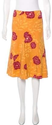 Oscar de la Renta Ikat Silk Skirt