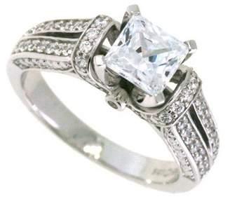 Swarovski Sterling Silver Princess Cubic Zirconia Ring