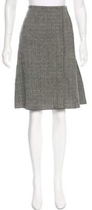 Chaiken Herringbone Virgin Wool Skirt