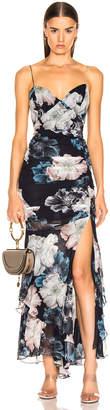 Nicholas Floral Drawstring Dress in Midnight   FWRD