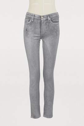 7 For All Mankind High waist skinny crop slim illusion jeans