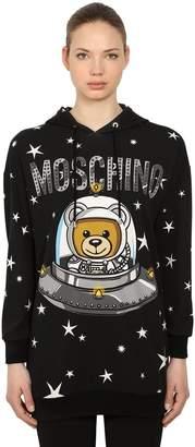 Moschino Logo Printed Cotton Sweatshirt Hoodie