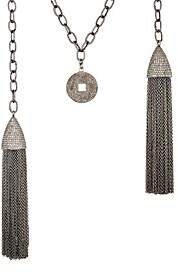 Carole Shashona Women's Kismet Blessings Grande Necklace-Silver