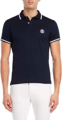 Roberto Cavalli Lurex Stripe Logo Polo