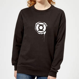 Justice League Graffiti Green Lantern Women's Sweatshirt