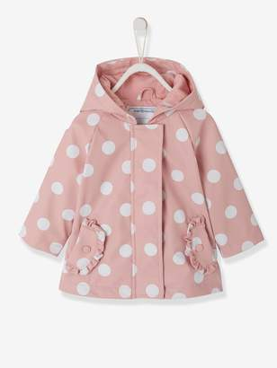 Vertbaudet Raincoat with Hood and Motifs for Baby Girls