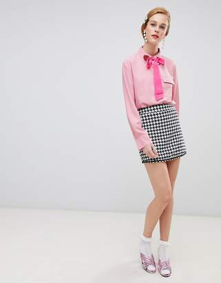 Sister Jane mini skirt in houndstooth two-piece