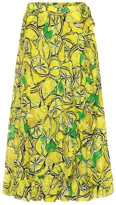 Diane von Furstenberg Clarissa printed wrap midi skirt