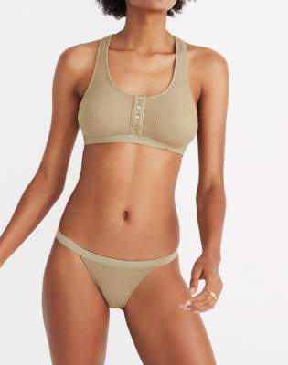 Madewell Waffle Knit String Bikini