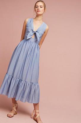 Shoshanna Kayla Tie-Front Midi Dress $368 thestylecure.com