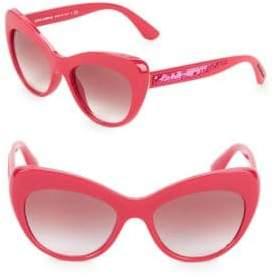 Dolce & Gabbana 52MM Sequin Arm Cateye Sunglasses