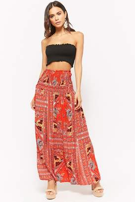 Forever 21 Selfie Leslie Abstract Print Maxi Skirt
