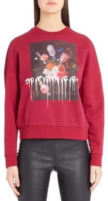 Alexander McQueen Paint Drip Graphic Sweatshirt