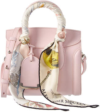 Alexander McQueen Heroine 21 Embroidered Mini Leather Satchel