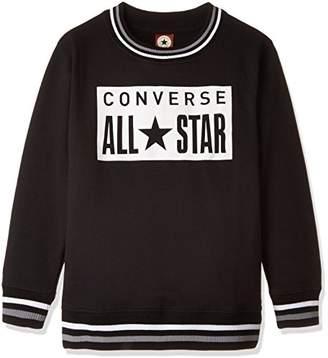 Converse (コンバース) - (コンバース)CONVERSE ボーイズ・ガールズ・裏毛ラインリブトレーナー OTH-524 35 ブラック 140