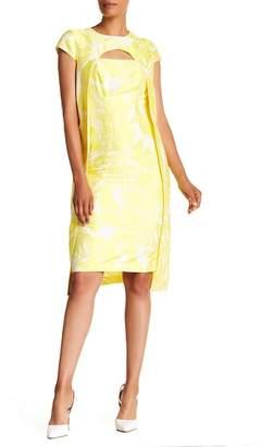 Kay Unger Jacquard Short Sleeve Dress