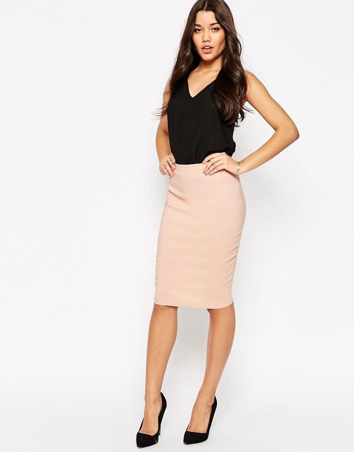 ASOS COLLECTION ASOS High Waisted Pencil Skirt