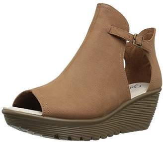 Skechers Women's Parallel-Cookie Cutter-Peep Toe Qtr Cut Wedge Sandal