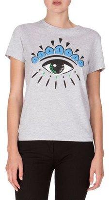 Kenzo Short-Sleeve Eye Jersey Tee, Light Gray $120 thestylecure.com