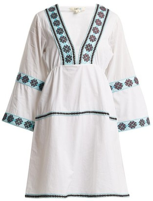 Daft - Istanbul Geometric Pattern Web Dress - Womens - White Multi