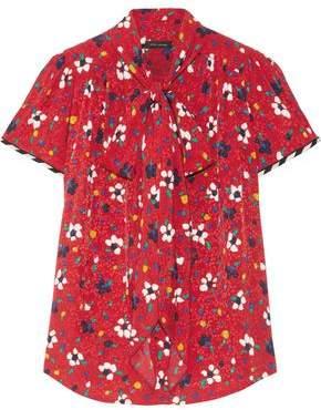 Marc Jacobs Floral-Print Silk Jacquard Top