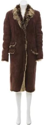 Gucci Long Shearling Coat