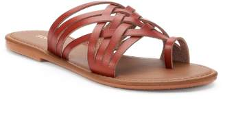 Sonoma Goods For Life Women's SONOMA Goods for Life Toe Loop Huarache Sandals