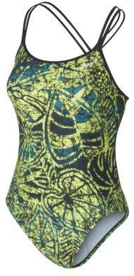 Nike Spider Back Batik Print Women's Tank Swimsuit