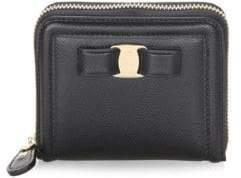 Salvatore Ferragamo French Leather Zip-Around Wallet