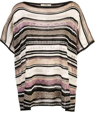 Fuzzi striped knitted top