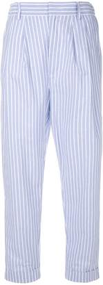 MM6 MAISON MARGIELA striped cropped trousers