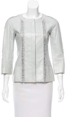 Chanel Fringe-Trimmed Leather Jacket