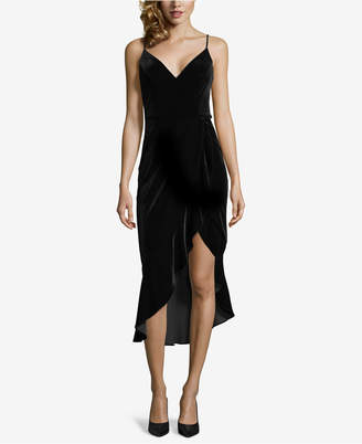 Xscape Evenings Velvet Asymmetrical-Hemline Sheath Dress