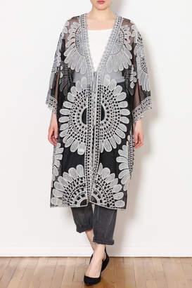 Umgee USA Lace Crochet Kimono