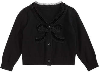 First Impressions Baby Girls Bow-Front Cotton Cardigan