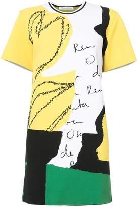 Oscar de la Renta abstract print dress
