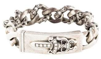 Chrome Hearts Diamond Dagger Curb Link Bracelet