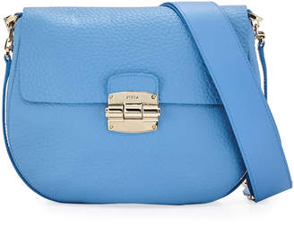 Furla Club Small Leather Crossbody Saddle Bag