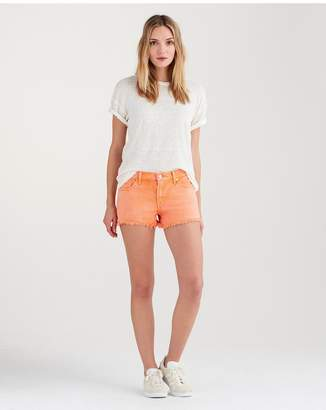 7 For All Mankind Cut Off Short In Creamsicle