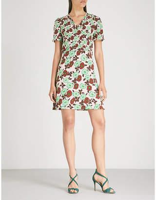 Sandro Antropique floral-print silk dress
