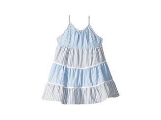 Polo Ralph Lauren Tiered Striped Cotton Dress (Toddler)