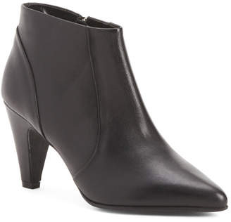 Made In Italy Low Ankle Leather Booties
