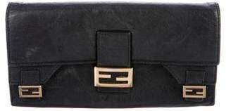 Fendi Leather Logo Wallet