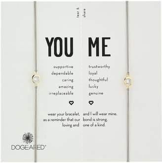 Dogeared You & Me, Crystal on Pebble Cord Friendship Bracelet