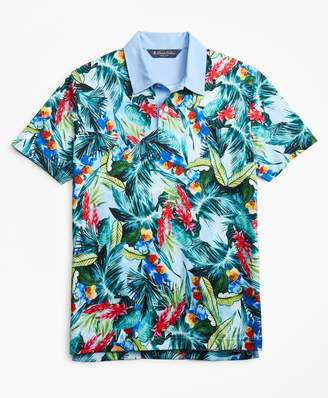 Brooks Brothers Slim Fit Bold Tropical Print Polo Shirt